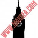 Sticker Géant Londres - Big Ben Silhouette