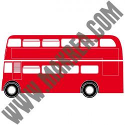 Sticker Géant Londres - Bus Anglais