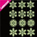 Sticker Luminescent 12 Flocons de Neige