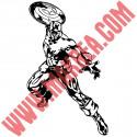 Sticker Captain America Lance Bouclier