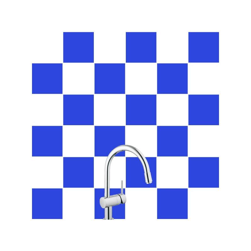 Stickers pour Carrelage Unis BLEU AZUR