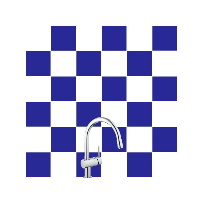 Stickers pour Carrelage Unis BLEU MARINE