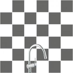 Stickers pour Carrelage Unis GRIS FONCE