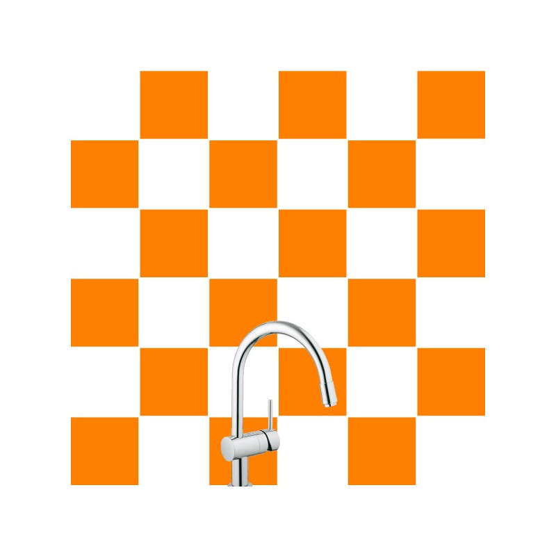 Stickers pour carrelage unis orange for Sticker pour credence de cuisine