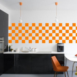 Stickers pour Carrelage Unis ORANGE