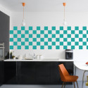 Stickers pour Carrelage Unis TURQUOISE