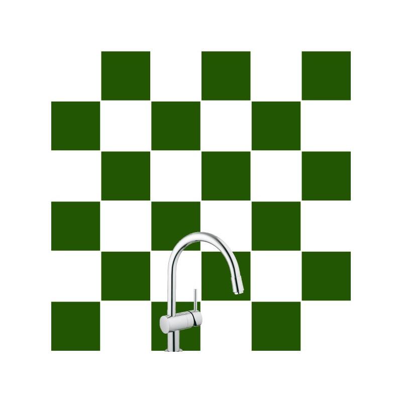 Stickers pour Carrelage Unis VERT FONCE