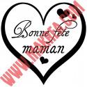 Sticker Vitrine Fête des mères - Bonne fête maman dans un Coeur