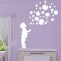 Sticker Silhouette Enfant souffleur de bulles de savon