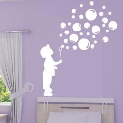 Silhouette Enfant souffleur de bulles de savon