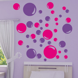 Sticker lot 40 Bulles de savon 2 couleurs