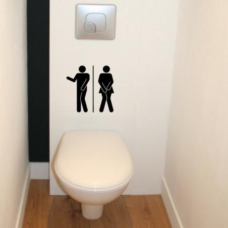 Abattant WC - Personnages H & F Humoristique