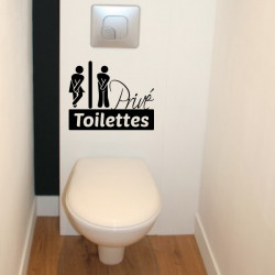 Abattant WC - Personnages H & F Humoristique Privé Toilettes