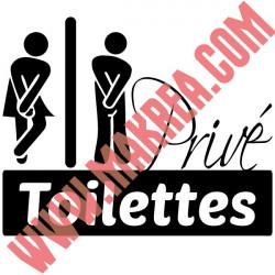 Sticker Abattant WC - Personnages H & F Humoristique Privé Toilettes
