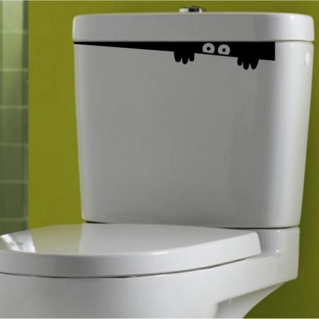 Abattant WC - Monstre Humoristique qui sort de la cuvette