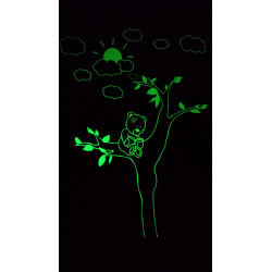 Sticker Luminescent Ourson dans un arbre