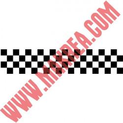 Sticker Frise Damier 100x20cm