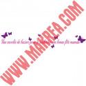 Sticker Vitrine Une envolée de baisers pour te souhaiter une bonne fête maman