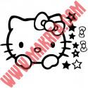 Stickers Interrupteur / Prise Tête Hello Kitty