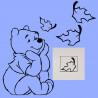 Stickers Interrupteur / Prise Winnie Assis Feuilles