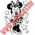 Sticker Minnie Robe - Etoiles