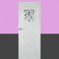 Sticker de porte - Jasmine Etoiles + prénom personnalisé