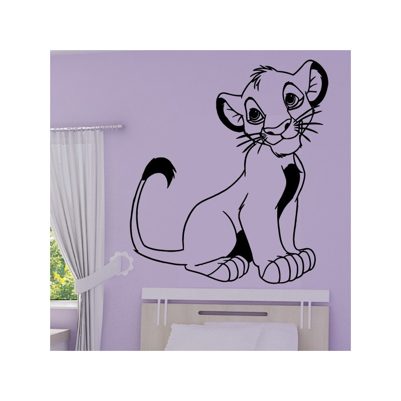 Sticker Roi Lion - Lionceau Simba Assis