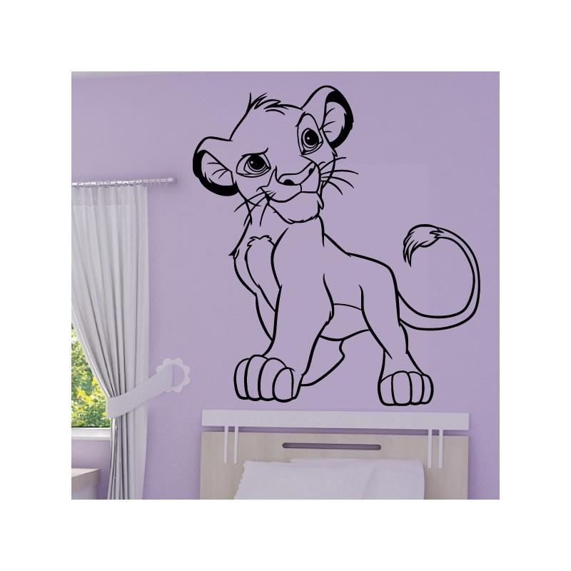 Sticker Roi Lion - Lionceau Simba Fier