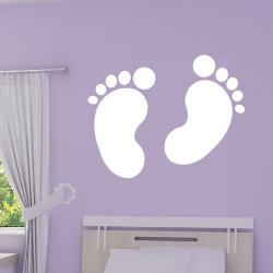 Sticker Empreintes Pieds de Bébé