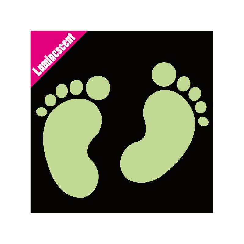 Sticker Luminescent Empreintes Pieds Bébé