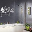 Sticker Salle de bain - Femme Glamour Baignoire