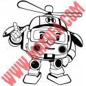 Sticker Robocar Poli - Heli l'Hélicoptère