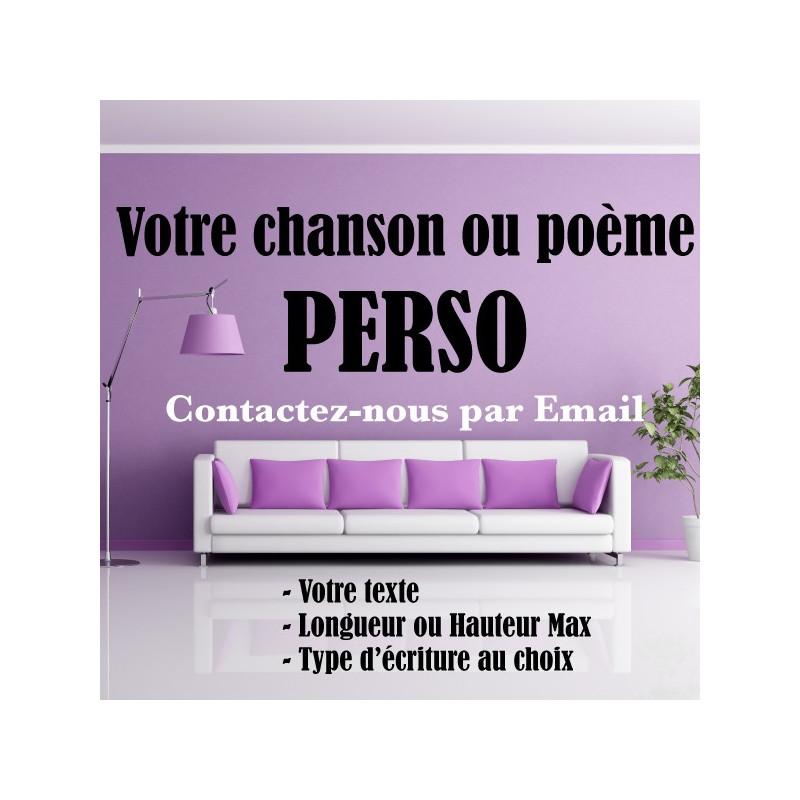 Chanson ou Poème Perso