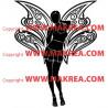 Sticker Femme Ange