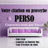 Citation ou Proverbe Perso