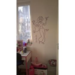 Sticker Aladdin - Jasmine et les oiseaux