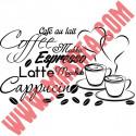 Sticker Cuisine - Tasses Espresso Cappucino Latte