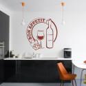 Sticker Cuisine - Verre et bouteille de vin Bon appétit !
