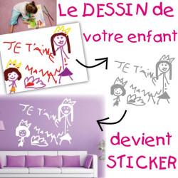 Sticker Dessin Enfant personnalisé
