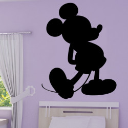 Sticker Mickey Silhouette