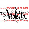 Sticker Violetta - Logo