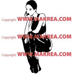 Sticker Femme en cuir sexy 3