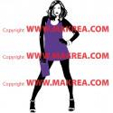Sticker Femme sexy - 2 couleurs