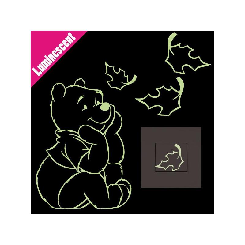 Sticker Luminescent Winnie Assis Feuilles