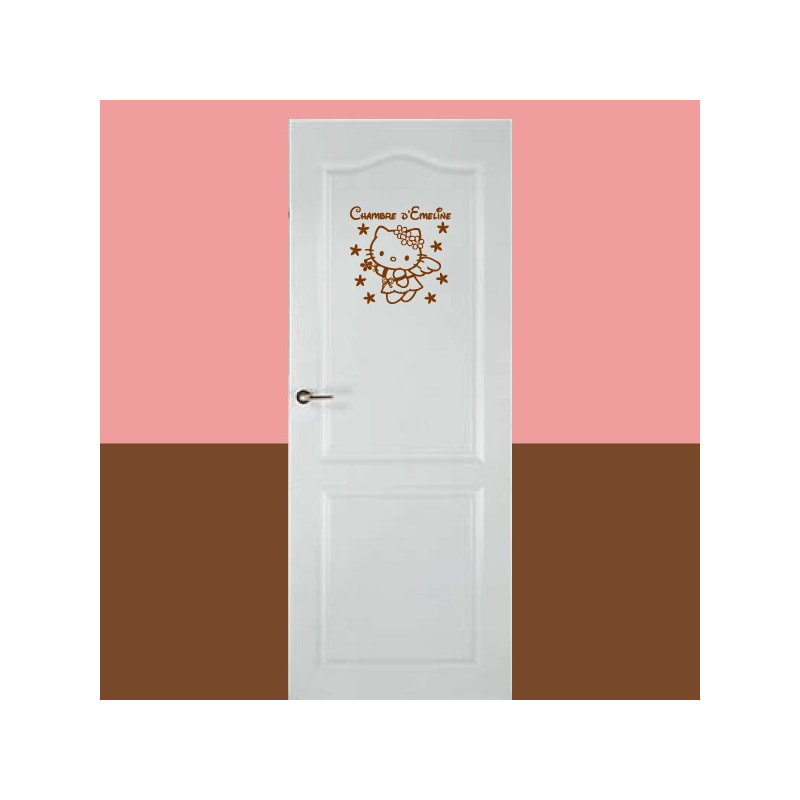Sticker de porte - Hello Kitty Fleurs