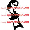 Sticker Femme sexy maillot de bain