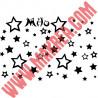 Sticker lot étoiles + prénom personnalisé