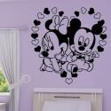 Sticker Mickey Minnie Bébé St Valentin