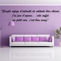"""Sticker Citation : Simple refuge d'intimité, de solitude bien choisie ..."""""""