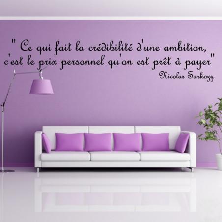 Citation : Ce qui fait la crédibilité d'une ambition ...